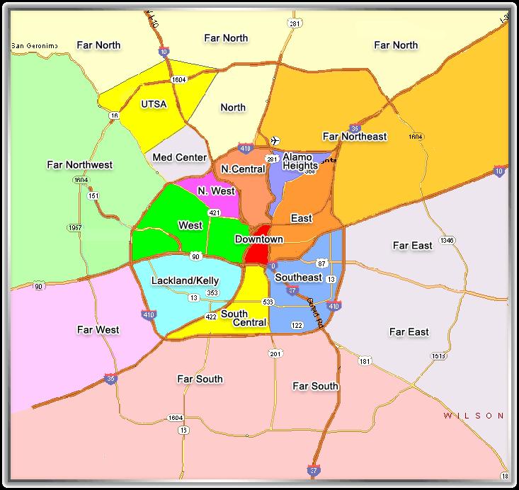 San Antonio Apartment Map